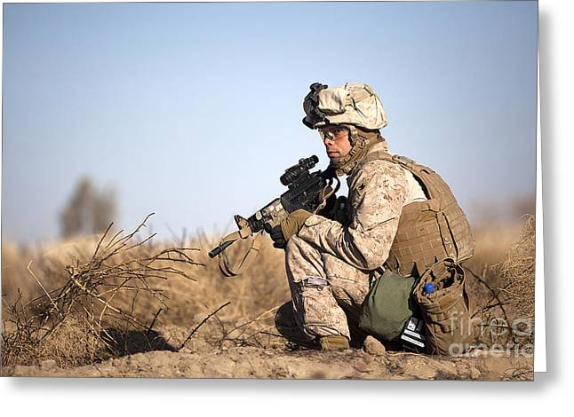 U.s. Navy Soldier Participates Greeting Card by Stocktrek Images