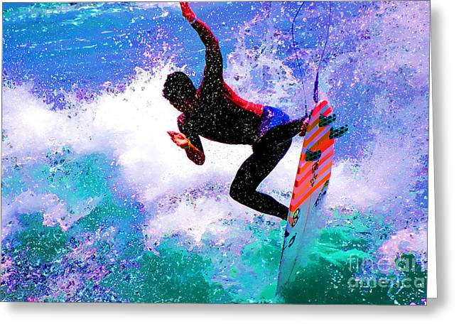 Kelly Slater Greeting Cards - US Open of Surfing 2012 Greeting Card by RJ Aguilar