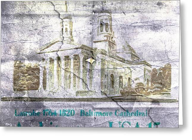 Postal Greeting Cards - US Postal Stamp Greeting Card by Andrea Barbieri