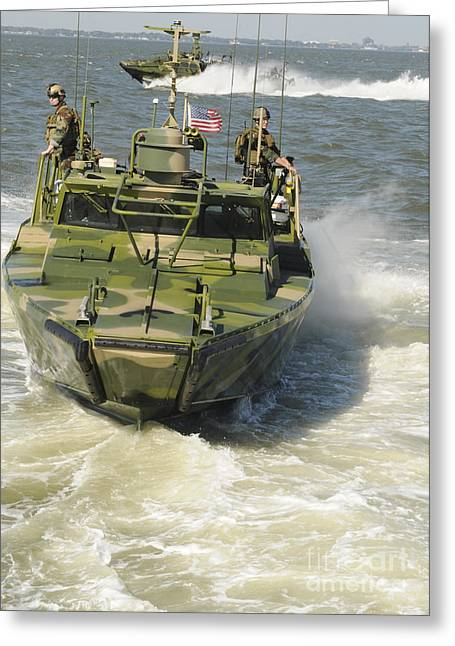 Only Men Greeting Cards - U.s. Sailors Conduct Maneuvers Aboard Greeting Card by Stocktrek Images