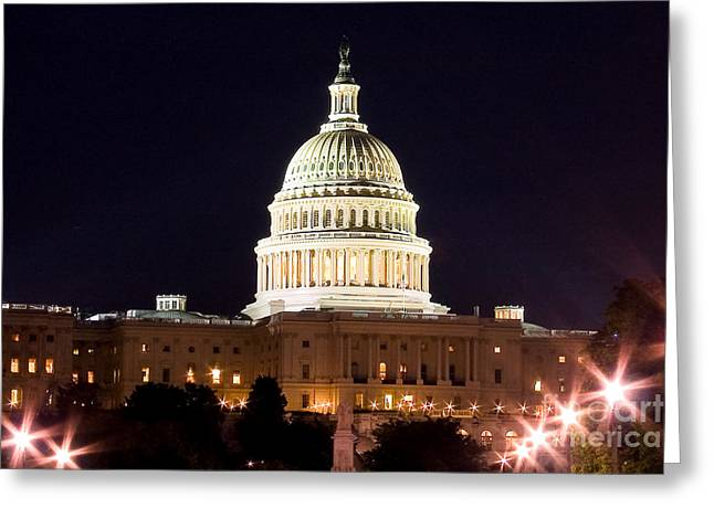 Diplomat Greeting Cards - US Senate Greeting Card by Syed Aqueel