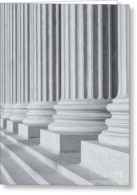 D.w Greeting Cards - US Supreme Court Building III Greeting Card by Clarence Holmes