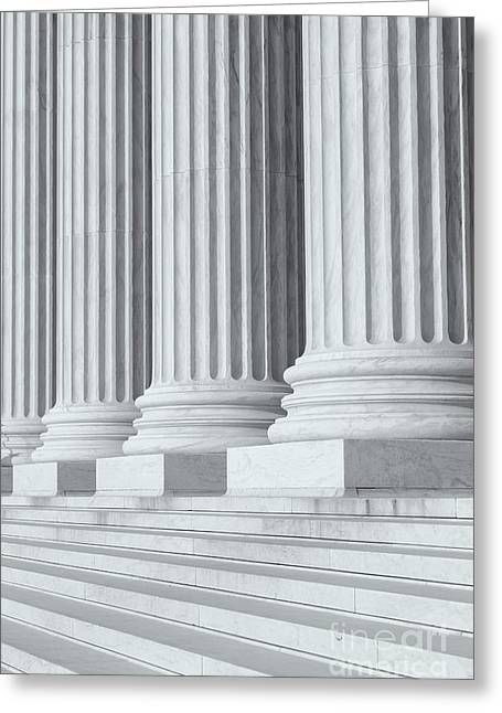 Marble Stone Greeting Cards - US Supreme Court Building IV Greeting Card by Clarence Holmes