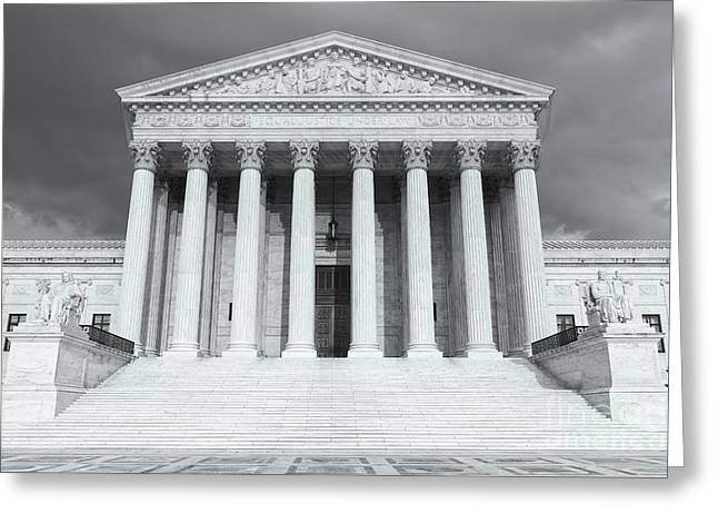 D.w Greeting Cards - US Supreme Court Building VIII Greeting Card by Clarence Holmes