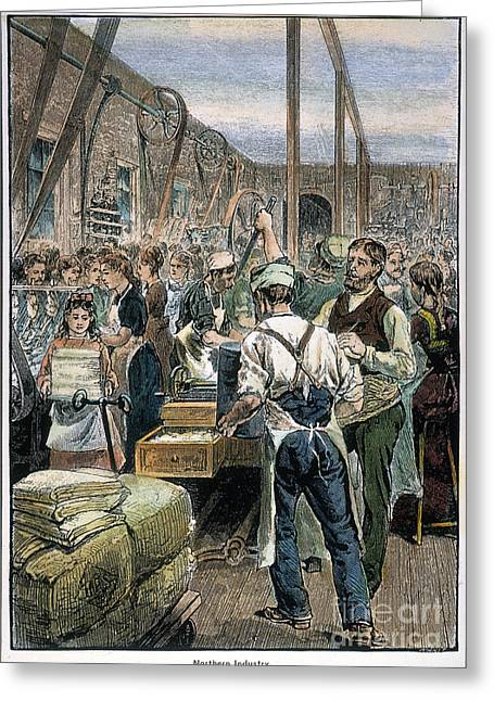 Suspenders Greeting Cards - U.s. Textile Mill, 1881 Greeting Card by Granger