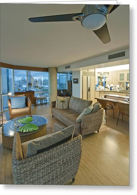 Us Open Photographs Greeting Cards - Usa Hi Honolulu Upscale Living Room Greeting Card by Rob Tilley