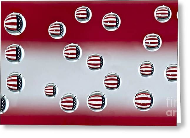 Flag Of Usa Greeting Cards - USA Reflections Greeting Card by Susan Candelario