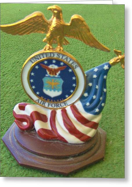 Air Sculptures Greeting Cards - USAF Art Work Greeting Card by M and L Creations