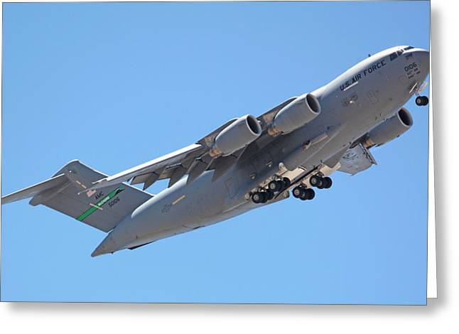 Artandstuffbycarl.com Greeting Cards - Usaf C-17 Lift Off  Greeting Card by Carl Deaville