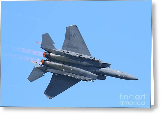 Fleet Week Greeting Cards - USAF F-15 Strike Eagle . 7D7871 Greeting Card by Wingsdomain Art and Photography