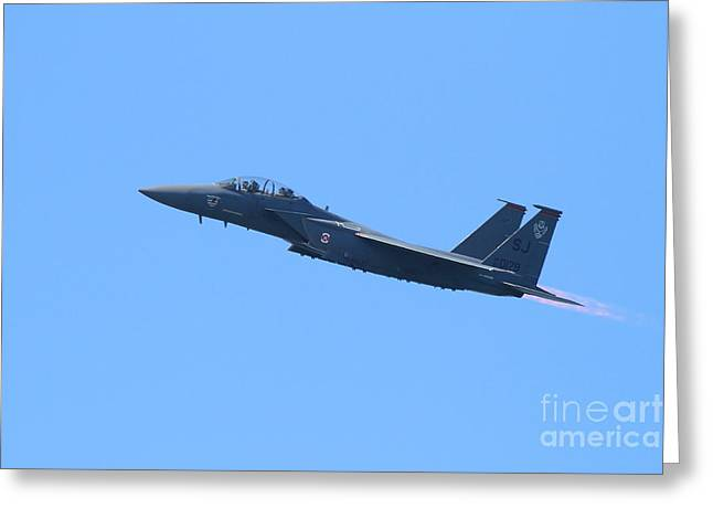 Fleet Week Greeting Cards - USAF F-15 Strike Eagle . 7D7889 Greeting Card by Wingsdomain Art and Photography