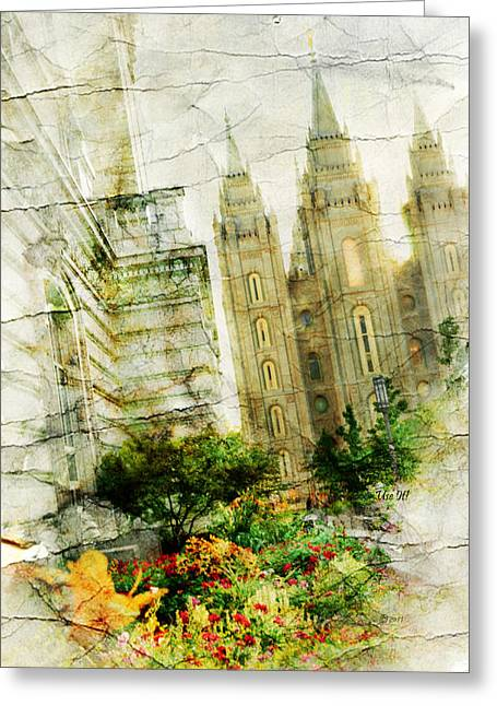 Slc Greeting Cards - Use it SLC Greeting Card by La Rae  Roberts