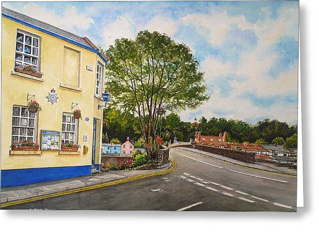 Police Station Greeting Cards - Usk police station  Greeting Card by Andrew Read