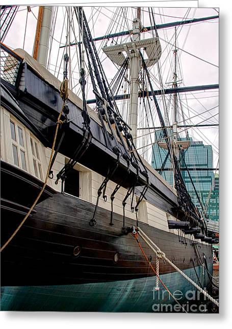 Constellations Greeting Cards - USS Constellation Greeting Card by Mark Dodd