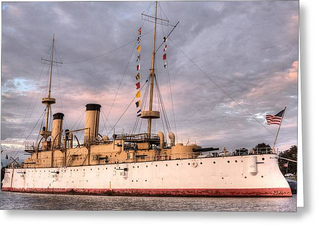 Dreadnought Greeting Cards - USS Olympia Greeting Card by JC Findley