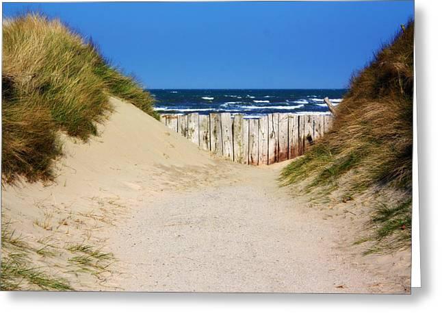 Utah Beach Normandy France Greeting Card by Susie Weaver