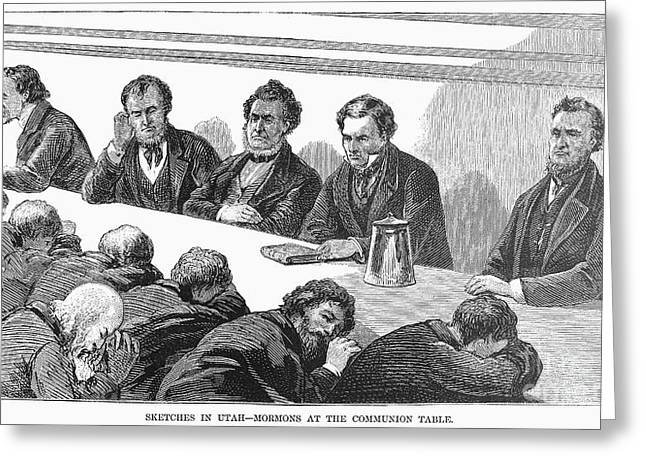 1874 Greeting Cards - Utah: Mormons, 1874 Greeting Card by Granger