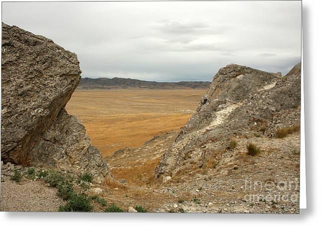 Utah Plains Greeting Card by Juan Romagosa