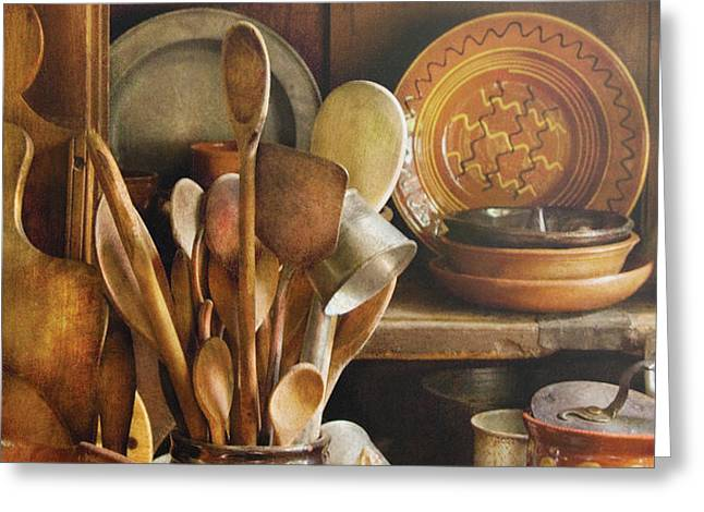 Utensils - Remembering Momma Greeting Card by Mike Savad