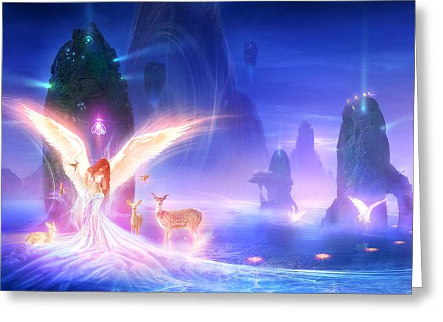 Utherworlds Ooulana Greeting Card by Philip Straub