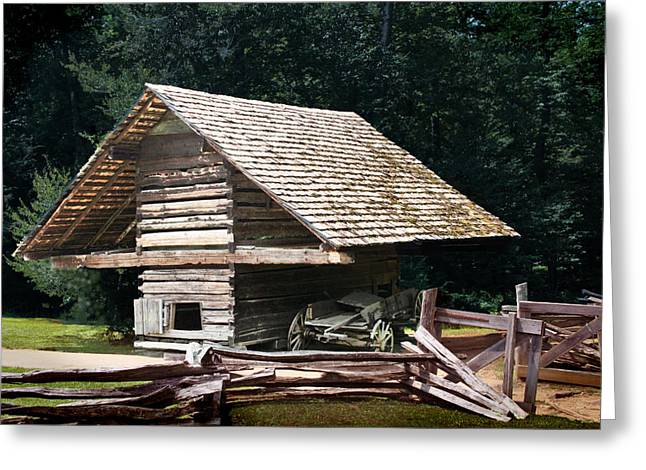 Log Cabin Photographs Digital Greeting Cards - Utility and Strength Greeting Card by Barry Jones