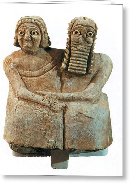 Babylonian Greeting Cards - Utnapishtim And His Wife Greeting Card by Photo Researchers