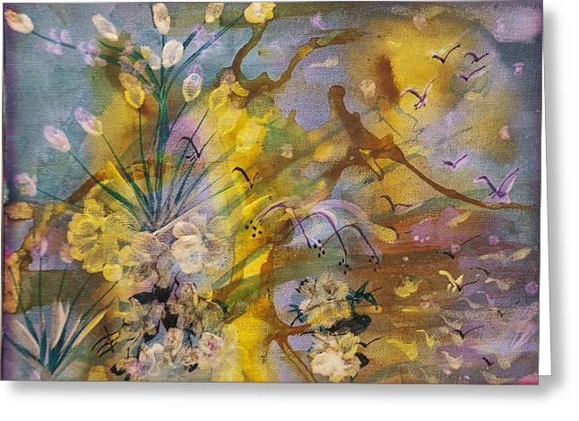 Linked Mixed Media Greeting Cards - Utopia Greeting Card by Don  Wright