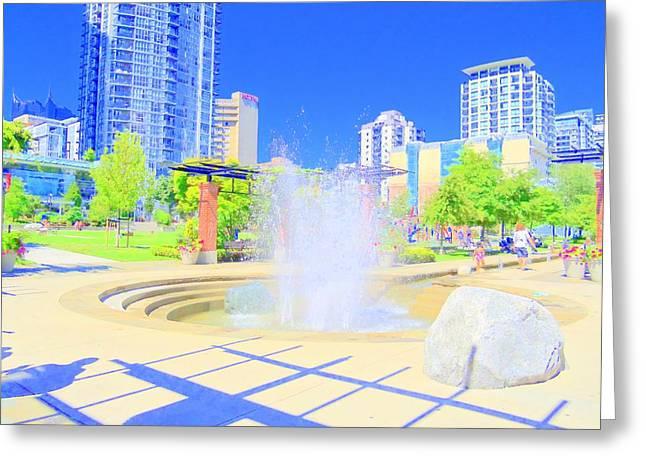 Utopian City Greeting Card by Randall Weidner
