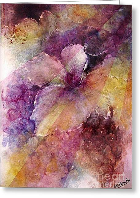 Cluster Of Grapes Greeting Cards - Uva al Sole Greeting Card by Kathleen Pio