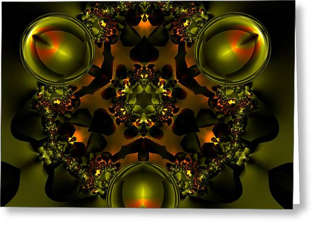 Algorithmic Abstract Greeting Cards - V Plate 227 Greeting Card by Claude McCoy