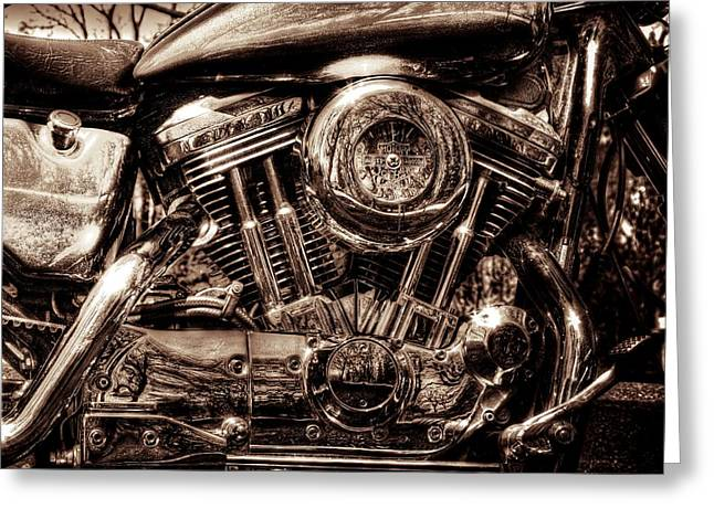 V-twin Greeting Card by Steven Arens
