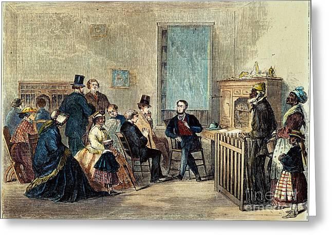 Freedman Greeting Cards - Va: Freedmens Bureau 1867 Greeting Card by Granger