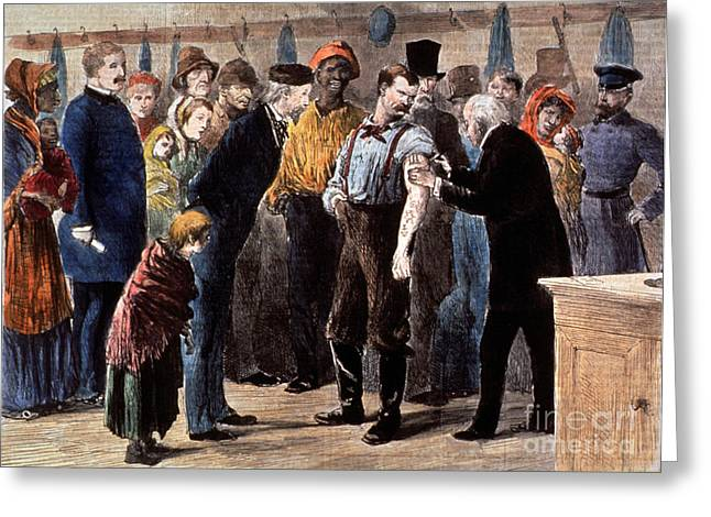 Initiative Greeting Cards - Vaccination Of The Poor, 1873 Greeting Card by Science Source