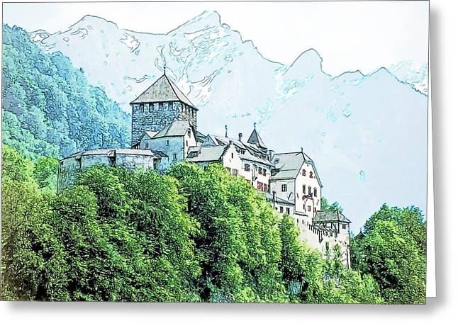Vaduz Castle Vaduz Lichtenstein Greeting Card by Joseph Hendrix