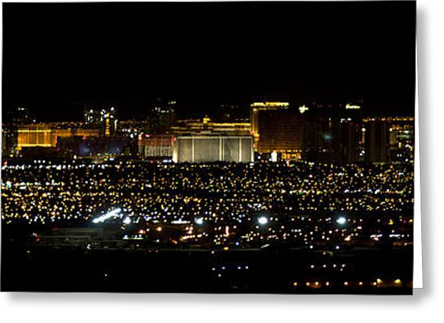 Las Vagas Greeting Cards - Vagas Night Lights Greeting Card by Clinton Nelson