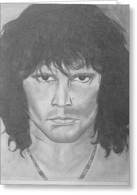 Wealth Drawings Greeting Cards - Val Kilmer Vs Jim Morrison  Greeting Card by Cara Surdi
