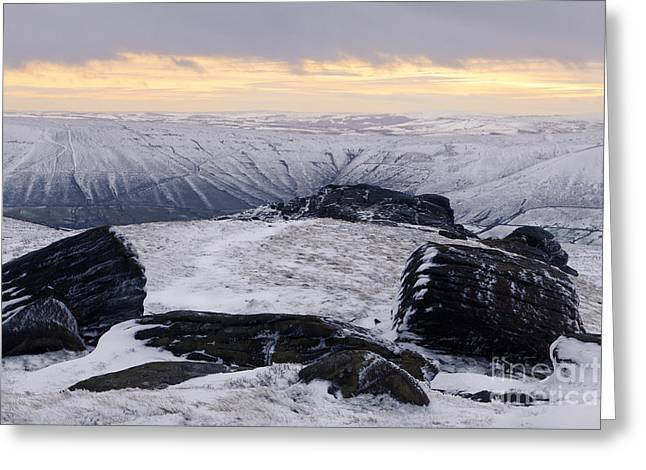 Vale Greeting Cards - Vale Of Edale In Winter Light Greeting Card by Martyn Williams