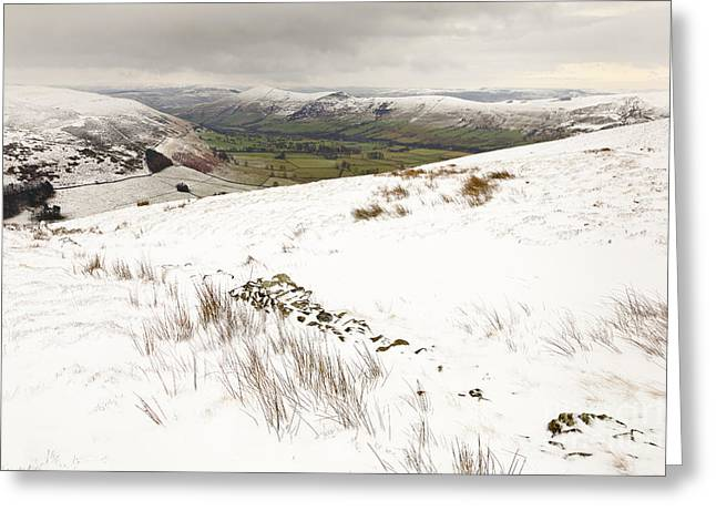 Vale Greeting Cards - Vale of Edale In Winter Greeting Card by Martyn Williams