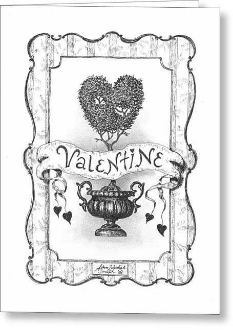 Valentine Greeting Card by Adam Zebediah Joseph