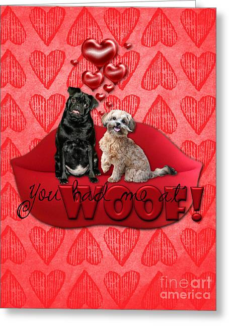 Valentines - Sweetest Day - You Had Me At Woof Greeting Card by Renae Laughner