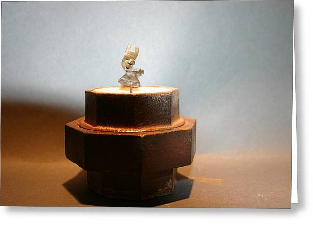 Recycled Sculptures Sculptures Greeting Cards - Valerie Greeting Card by Richard Heffron
