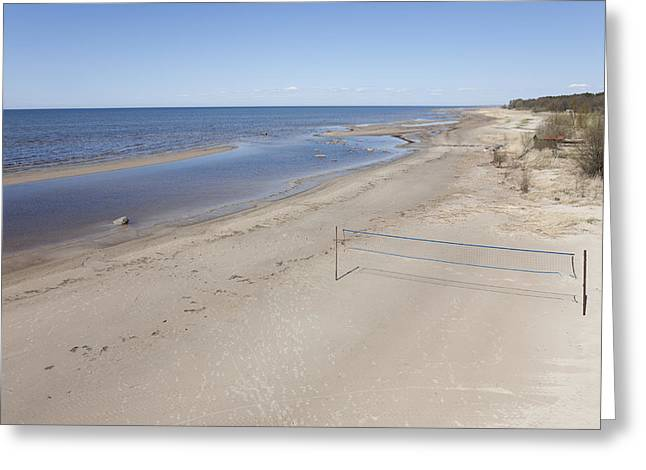 Seasons.net Greeting Cards - Valgerand Beach Is A Wide Sandy Beach Greeting Card by Jaak Nilson