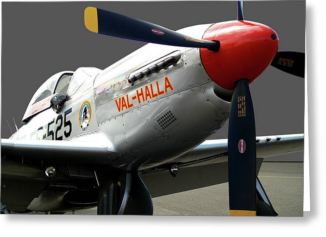 P51 Photographs Greeting Cards - Valhalla Greeting Card by Robert Trauth