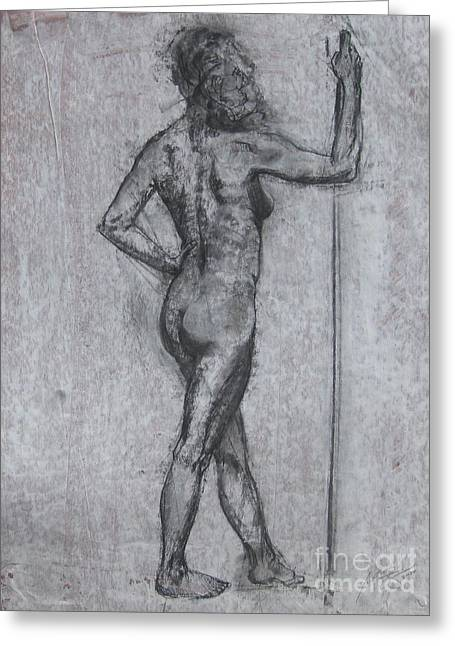 Physical Body Drawings Greeting Cards - Valiance  Greeting Card by Julianna Ziegler