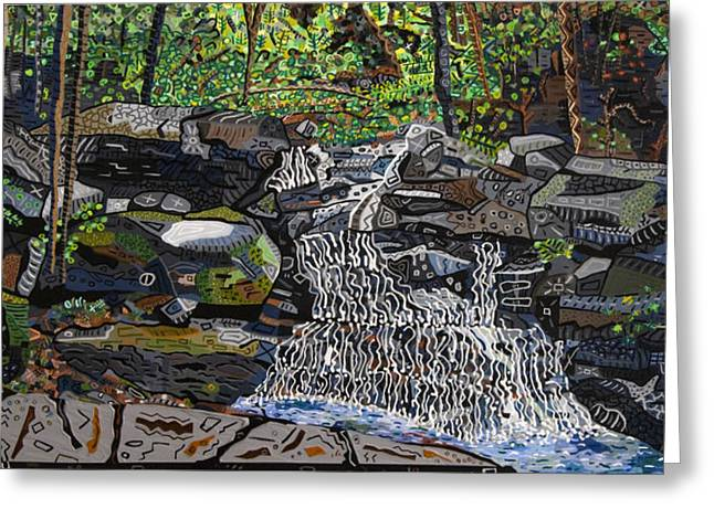 Valle Crucis Greeting Cards - Valle Crucis 2 -  Waterfalls near Conference Center Greeting Card by Micah Mullen
