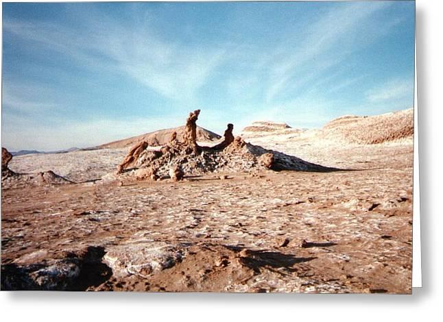 Valle de la Luna - Atacama Desert Northern  Greeting Card by Ronald Osborne