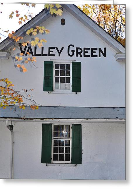 Valley Green Greeting Cards - Valley Green Inn - Side View Greeting Card by Bill Cannon