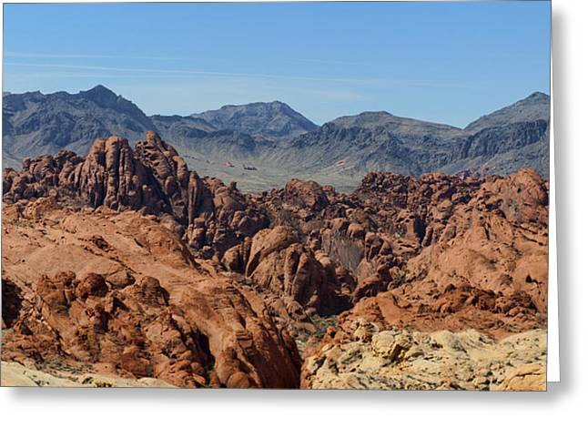 Valley Of Fire 2 Of 4 Greeting Card by Gregory Scott