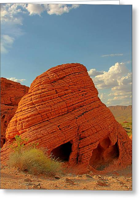 Valley Of Fire Nevada - Beehives Greeting Card by Christine Till