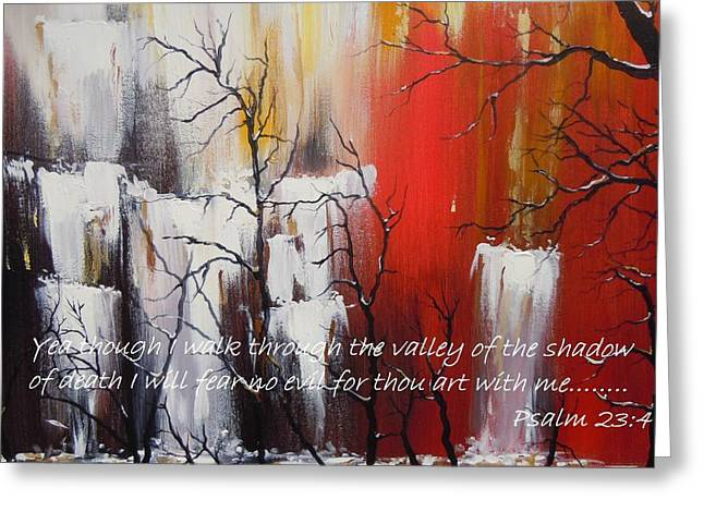 Valley of Shadows Poster Greeting Card by Dan  Whittemore